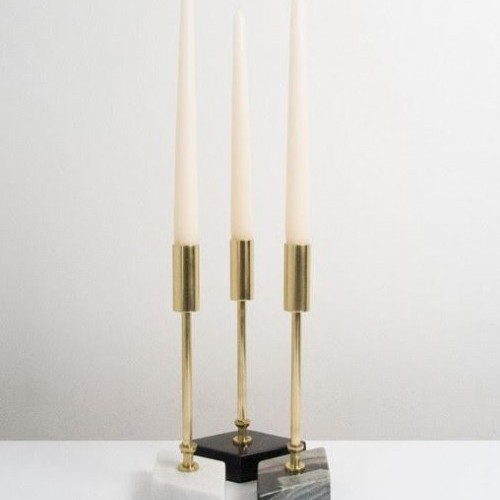 candle sticks, marble, gold, home, interior design, oh what's this